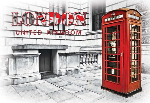 London Red Telephone Box Photo Wallpaper Wall Mural