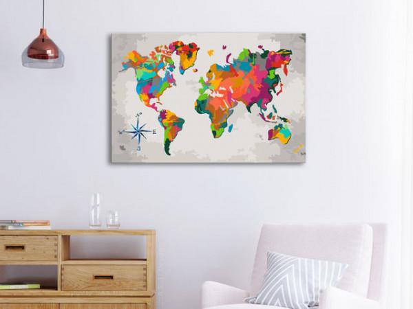 Pictatul pentru recreere - World Map (Compass Rose)