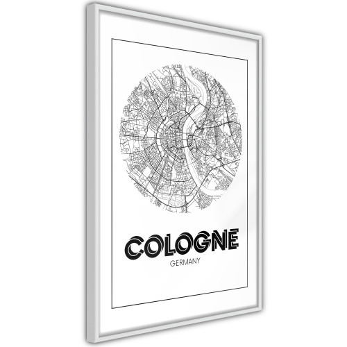 Poster - City Map: Cologne (Round)