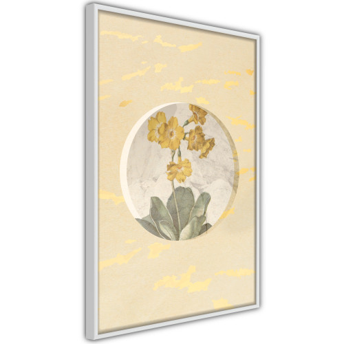 Poster - Flowers and Marble