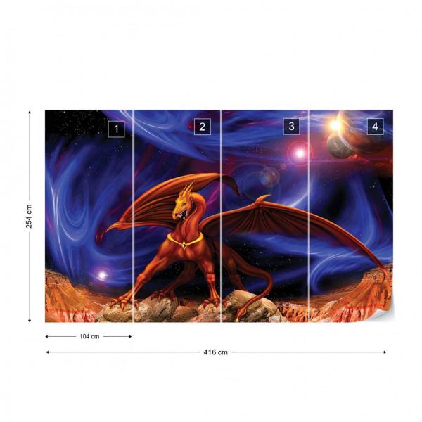 Space Dragon Photo Wallpaper Wall Mural