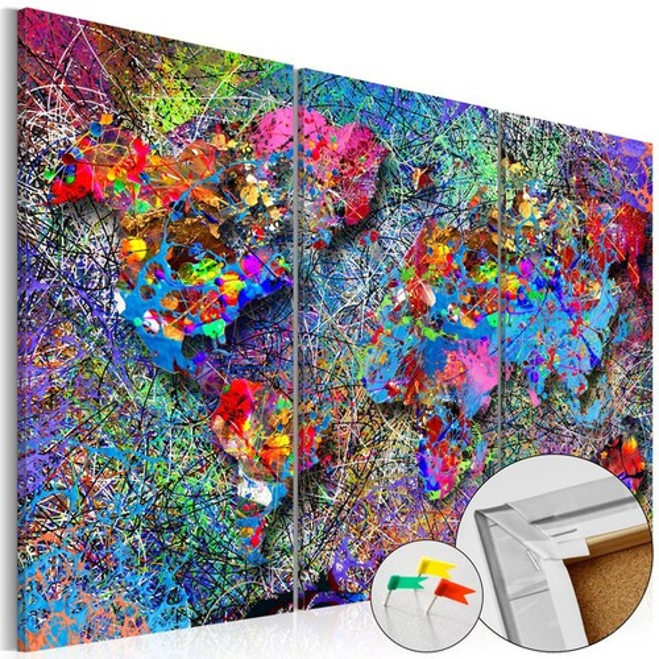 Tablou din plută - Colourful Whirl [Cork Map]