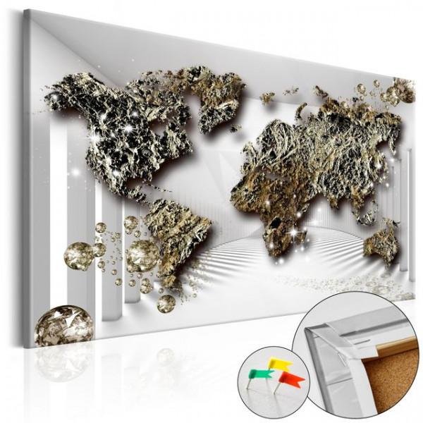 Tablou din plută - Golden Future [Cork Map]