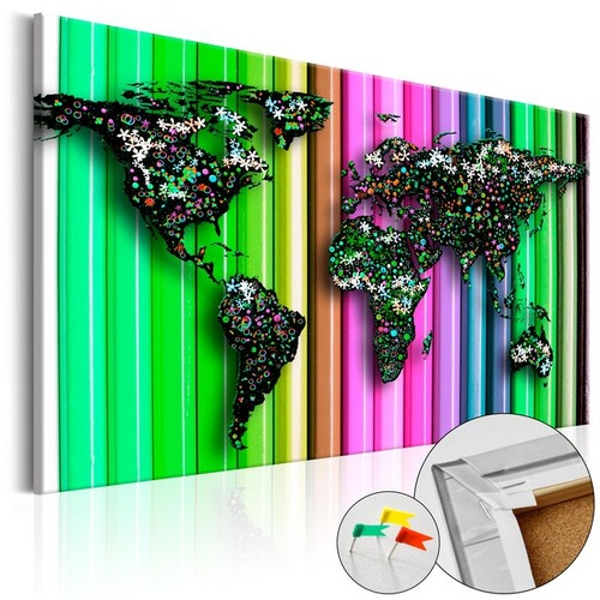 Tablou din plută - Pencil World [Cork Map]