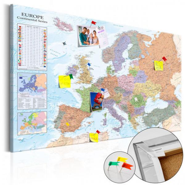 Tablou din plută - World Maps: Europe [Cork Map]