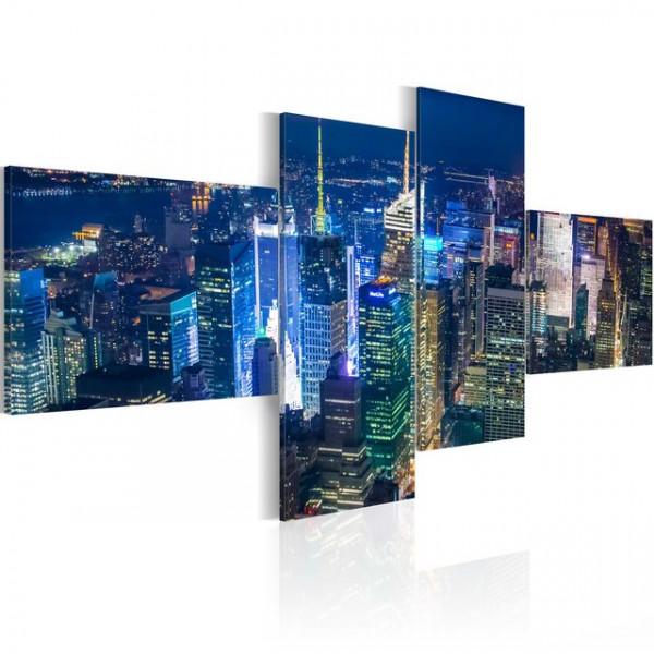 Tablou - New York in indigo colour