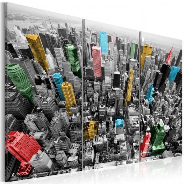 Tablou - New York in the CMYK color model