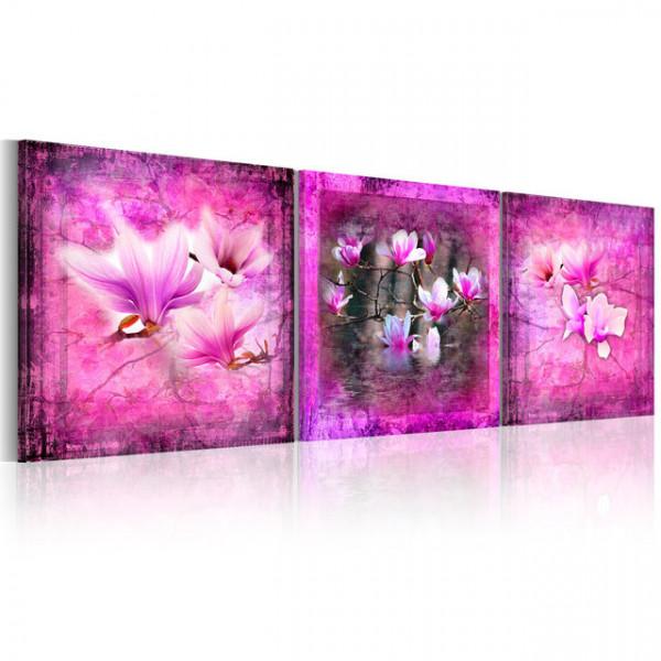 Tablou - Pink magnolia flowers
