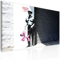 Tablou - Police guard and pink balloon dog (Banksy)