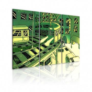 Tablou - train station, Manhattan (green)