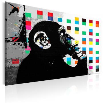 Tablou - Banksy The Thinker Monkey