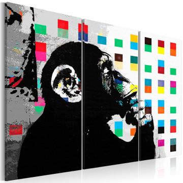 Tablou - The Thinker Monkey by Banksy