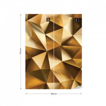 3D Gold Polygon Texture Photo Wallpaper Wall Mural
