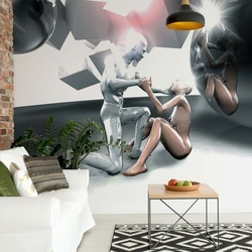 3D People Photo Wallpaper Wall Mural