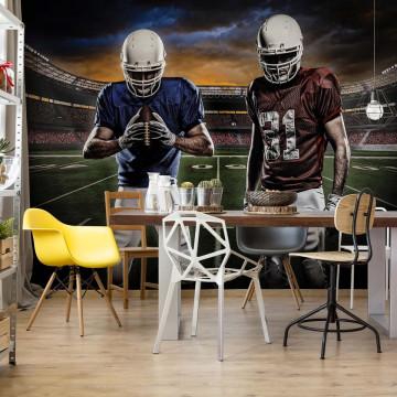 American Football Players Stadium Photo Wallpaper Wall Mural