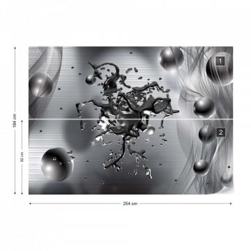 Abstract 3D Design Molten Metal Photo Wallpaper Wall Mural