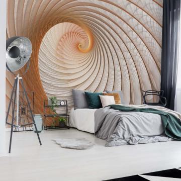 Abstract Swirl Beige Photo Wallpaper Wall Mural
