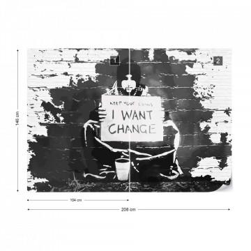 Banksy Graffiti Photo Wallpaper Wall Mural