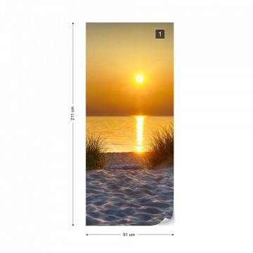 Beach Sunset Photo Wallpaper Wall Mural