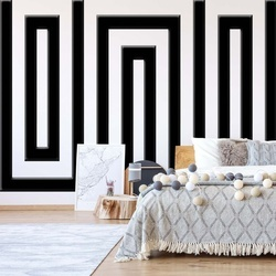 Black And White Geometric Pattern Photo Wallpaper Wall Mural