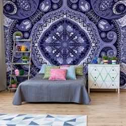 Blue And Purple Pattern Photo Wallpaper Wall Mural