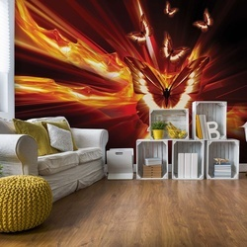 Butterflies Abstract Design Light Stream Photo Wallpaper Wall Mural