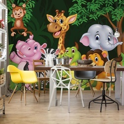 Cartoon Animals Photo Wallpaper Wall Mural