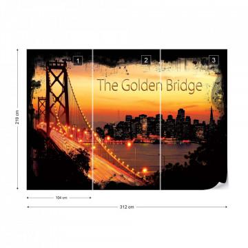 City Skyline Golden Gate Bridge Photo Wallpaper Wall Mural
