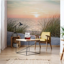 Coastal Sand Dunes Beach Sunset Photo Wallpaper Wall Mural