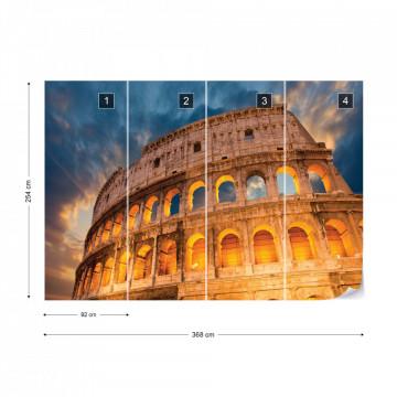 Colosseum Rome Sunset Photo Wallpaper Wall Mural