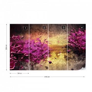 Colour Splash Abstract Art Photo Wallpaper Wall Mural