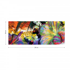 Colourful Butterflies And Flowers Photo Wallpaper Wall Mural