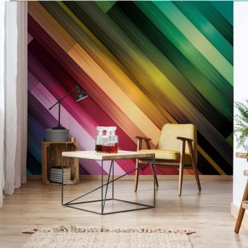 Colourful Light Streaks Modern Design Photo Wallpaper Wall Mural