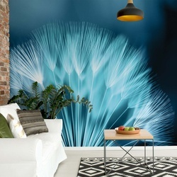 Dandelion Blue Photo Wallpaper Wall Mural