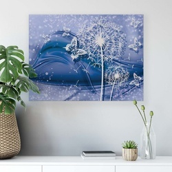 Dandelions & Butterflies Canvas Photo Print