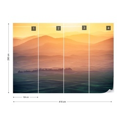 Dreamy Morning Photo Wallpaper Mural