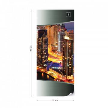 Dubai City Skyline Photo Wallpaper Wall Mural