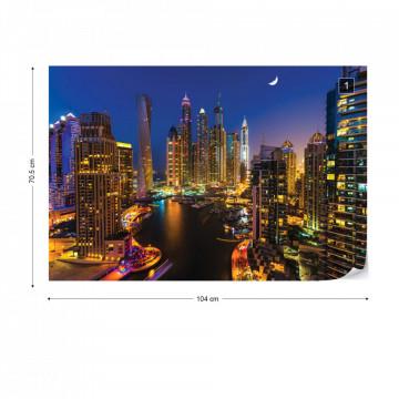 Dubai Marina City Skyline Photo Wallpaper Wall Mural