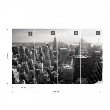 Empire State Building – Vedere de Ansamblu, Alb-Negru