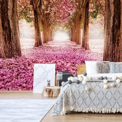 Flowers Blossom Trees Forest Nature Photo Wallpaper Wall Mural