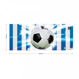 Football Blue And White Stripes Photo Wallpaper Wall Mural