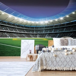 Football Stadium Photo Wallpaper Wall Mural
