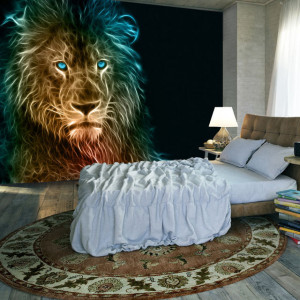 Fototapet - Abstract lion