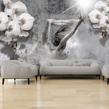 Fototapet - Arrangement with orchid