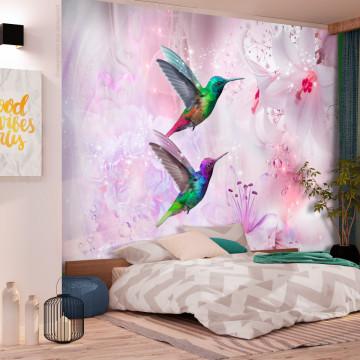 Fototapet autoadeziv - Colourful Hummingbirds (Purple)