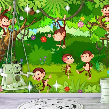 Fototapet autoadeziv - Monkey Tricks