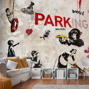 Fototapet - [Banksy] Graffiti Collage