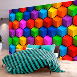 Fototapet - Colorful Geometric Boxes