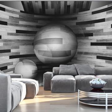 Fototapet - Gray sphere