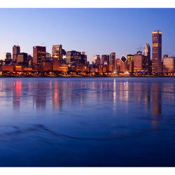 Fototapet - Icy Downtown Chicago